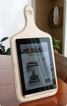 Kitchen tablet stand.