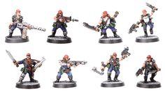 Présentation du jeu Necromunda Gangs, Presentation, Warhammer Models, Warhammer 40k Miniatures, Minis, Snow Globes, Modeling, House, Painting