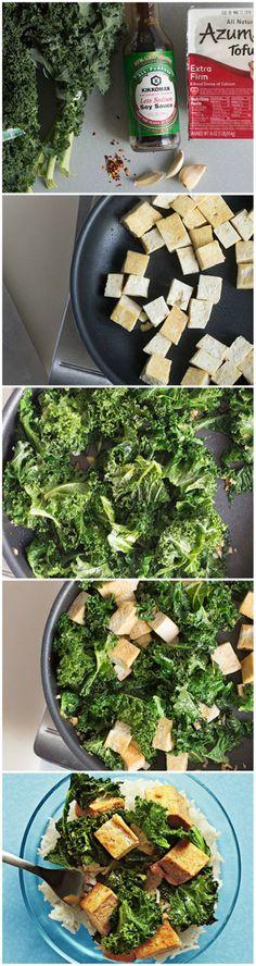 Kale & Crispy Tofu Stir Fry