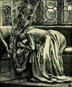 Pre Raphaelite Art: 'Blessing in Disguise' by Arthur Hughes. First published in 'Sunday Magazine'(1869)