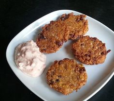 Inspired by leftovers: pinto bean, queso & cornmeal cakes with spicy yogurt. #glutenfree #vegetarian by Oyster Evangelist, via Flickr