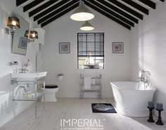 Etoile large basin stand with chrome legs #imperialbathrooms #madeinengland #luxurybathroom