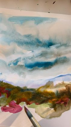 Watercolor Landscape Tutorial, Watercolor Art Lessons, Watercolor Painting Techniques, Watercolor Landscape Paintings, Watercolor Paintings Abstract, Watercolor Wood, Watercolor Ocean, Art Moderne, Gouache