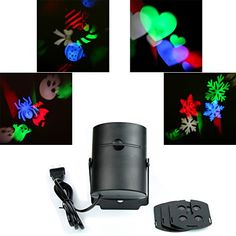 HOWSAN Moving Color Laser Light Landscape Projector,Holiday Lighting, Christmas Lights, multicolor whit 4PCS Switchable Pattern Lens - http://christmasstore.cookingwithian.com/howsan-moving-color-laser-light-landscape-projectorholiday-lighting-christmas-lights-multicolor-whit-4pcs-switchable-pattern-lens/