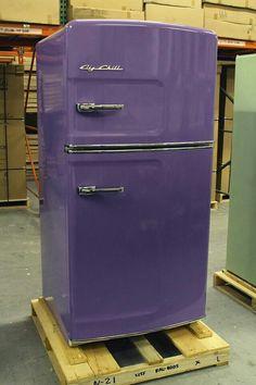 Purple refrigerator LOVE