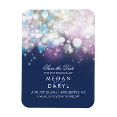 Navy String Lights Save the Date