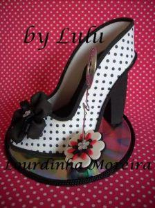 Patrón de Zapato de tacón de mujer, porta móvil en Goma Eva.