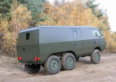 Pinzgauer 6x6 Mobile Command vehicle. Go anywhere in (rugged) style.