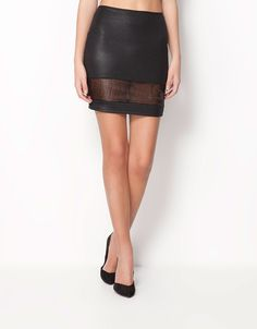 460k Bershka Indonesia - Bershka transparencies skirt