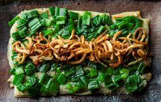Smokey Aubergine, Warm Scallion Vinaigrette with Scallions & Crispy Shallots #foodporn #soho #Vietnamese #dinner #London  www.thehouseofho.co.uk