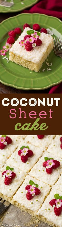 Coconut Sheet Cake - This cake is TO DIE FOR!! Everyone wanted more! You'll want to eat this frosting by the spoonful!