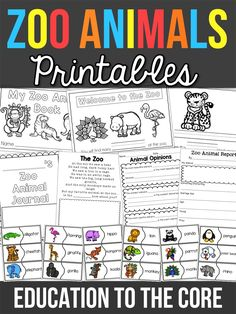 Zoo Animal Printable Pack and FREEBIE