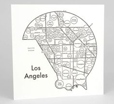 "Los Angeles Map 17.5""x17.5"" Screenprint. LOS ANGELES, I'M YOURS When I was walking on Sunset wearing a trucker hat and sunglasses, people kept doing double-takes. I guess that's the uniform for a celebrity-in-disguise. Besides ""The Business"", LA is one of those places where a group of strangers will beckon you into a cab for a crazy night of surprises. I love it there. 17.5"" x 17.5"" Screenprint on 100 lb. white paper Framing: These prints fit in an Ikea frame, but you'll need your own..."