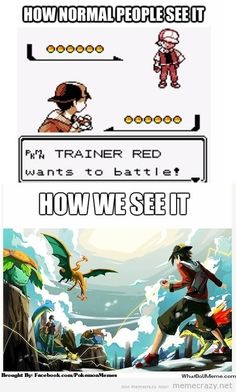 Graphics Don't Matter When You Believe-is it just me or will the music not stop playing in my head? - that's Pokemon for you :) Pokemon Mew, Pokemon Comics, Pokemon Stuff, Real Pokemon, Pokemon Charizard, Pokemon People, Meme Comics, When You Believe, 4 Panel Life
