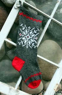 New for 2016! This modern Christmas stocking uses popular colorways but retains tradition with the Fair Isle pattern. The stocking has decorative chevron components. This would be an excellent pattern for someone new to Fair Isle knitting.