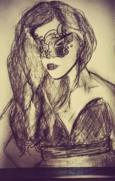The lady with a mask