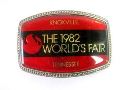 Belt Buckle 1982 World's Fair Knoxville Tennessee Vintage #Casual