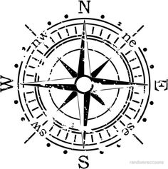 Illustration of grunge vector compass vector art, clipart and stock vectors. Compass Art, Compass Drawing, Compass Vector, Compass Icon, Vintage Compass Tattoo, Pirate Compass Tattoo, Geometric Compass, Nautica Tattoo, Compass Picture
