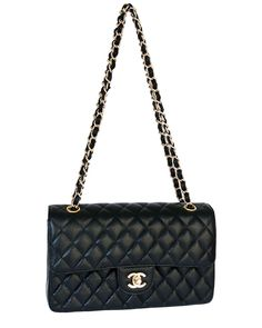 Chanel Black Quilted Caviar Leather Medium Classic Flap Bag is on Rue. Shop it now.