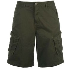 Mens Branded Firetrap Lightweight Turn Up Cuffs Denim Shorts Bottoms