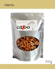 Flavoured Cashew Nuts, Dry Fruits, Cazootree, Garlic Cashew Nuts