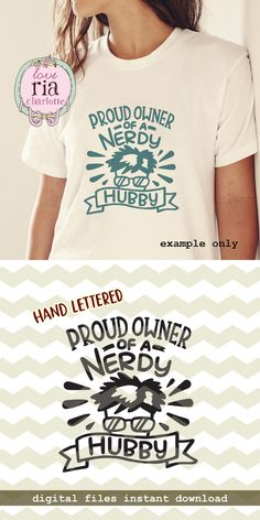 Proud owner of a nerdy hubby, fun quirky nerd geek husband digital cut files, SVG, DXF, studio3 for cricut, silhouette cameo, vinyl decals by LoveRiaCharlotte on Etsy