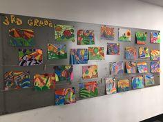 3rd grade art inspired by Hundertwasser