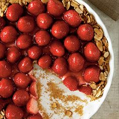 Our Best Easter Desserts | Strawberry-Almond Cream Tart | CookingLight.com