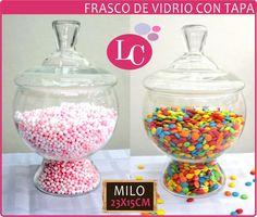 Frasco De Vidrio Con Tapa ( Milo 23x15cm ) - $ 125,80 en MercadoLibre