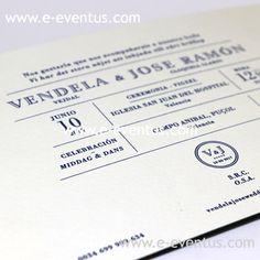 invitación clasica renovada · invitación boda minimalista · invitación boda sobria · invitación boda elegante