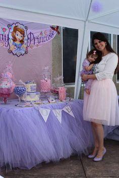 "Savannah's ""Sofia the First"" 1st Birthday Celebration   CatchMyParty.com"