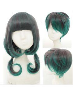 Couple's Brown Peacock Green Lolita Short Wig
