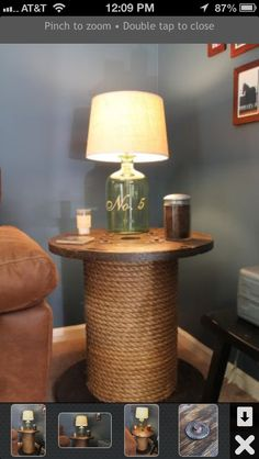 Love this spool table!