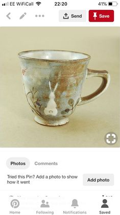 All About Rabbits, Pottery Clay, Cups, Ceramics, Tableware, Baby Chicks, Rabbits, Ceramica, Mugs