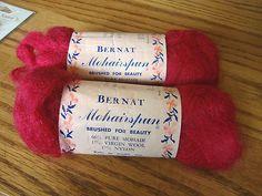 """Vintage Bernat """"Mohairspun"""" Mohair/Wool/Nylon Brushed Yarn"""