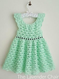 Gemstone Lace Toddler Dress Crochet Pattern - The Lavender Chair