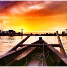 Sunset in Sarawak, Malaysia.