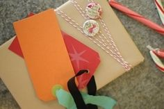 Colored tapes or an inexpensive roll of baker's twine offers a great way to adorn a package with a lasting impression.