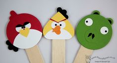 The Crafty Owls Blog   Punch Art Angry Birds Bookmarks