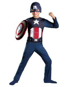 Captain America  Avengers Basic Child Costume Size Medium 78