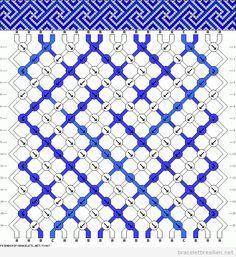 Modèle ou scheme bracelet brésilien spirale carré