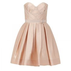 Paule Ka Boned strapless dress (€2.080) ❤ liked on Polyvore featuring dresses, vestidos, short dresses, платья, women, strapless dress, pink strapless dress, pleated mini dress, pink bandeau bikini top and strapless cocktail dress