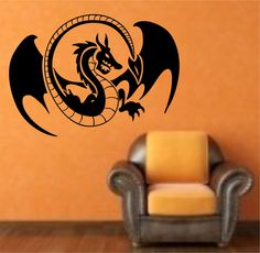 Dragon Japan  Anime Vinyl Wall Decal Sticker Art Decor Bedroom Design Mural by StateOfTheWall on Etsy https://www.etsy.com/listing/221014815/dragon-japan-anime-vinyl-wall-decal