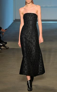 Rose Jacquard Strapless Gown by Derek Lam for Preorder on Moda Operandi