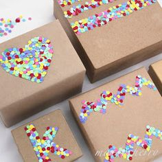 A small bite of mondocherry: confetti present wrapping...
