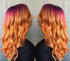 2015 was a great year for hair color trends, from opal to sunset hair. These are the best dye job trends of the year. Henna Designs, Sunset Hair, Pretty Hair Color, Hair Shades, Hair Dye Colors, Hair Colorist, Grunge Hair, Hair Photo, Rainbow Hair