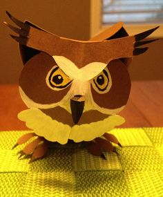 Barn Owl  Paper Origami by PaperPupGrowlers on Etsy, $15.00