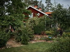 The Nordroom - A Traditional Swedish Farm Surrounded By Nature Swedish Decor, Swedish Style, Outdoor Rooms, Outdoor Living, Sweden House, Red Houses, Secret Hideaway, Scandinavian Countries, Small Lake