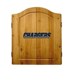 This NFL San Diego Chargers Wooden Dartboard Cabinet Set is made of solid  pine and makes a great gift for the sports fan in your life. This  officially licensed dartboard comes with mounting hardware and six team  logo darts.   Great gift for sports fan Perfect for man cave or garage Made by Imperial International Solid pine wood dartboard cabinet All natural 18-inch bristle dart board Mounting instructions and hardware included Six steel darts with team logo on flights Includes chalk and…