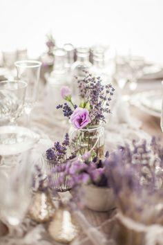 lavender table deco